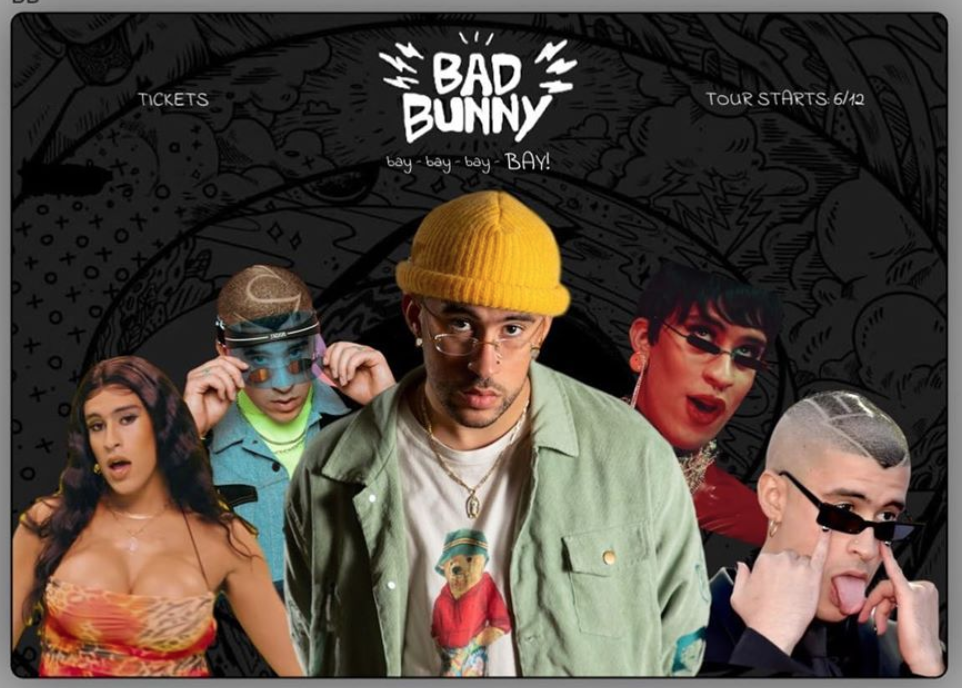 Bad Bunny Desktop Website Mockup