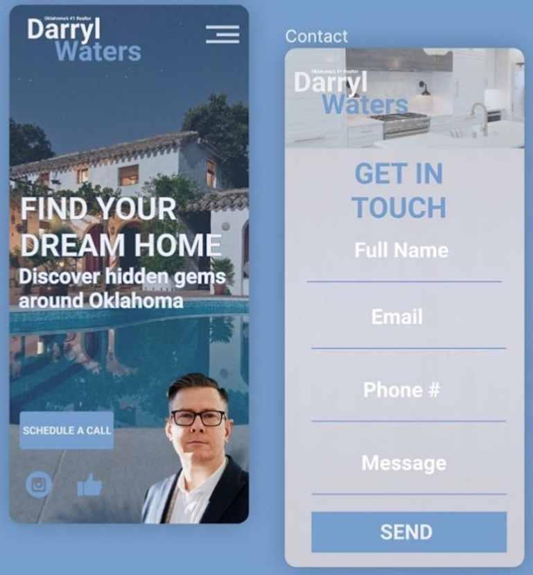 Real Estate Mobile Website Preview