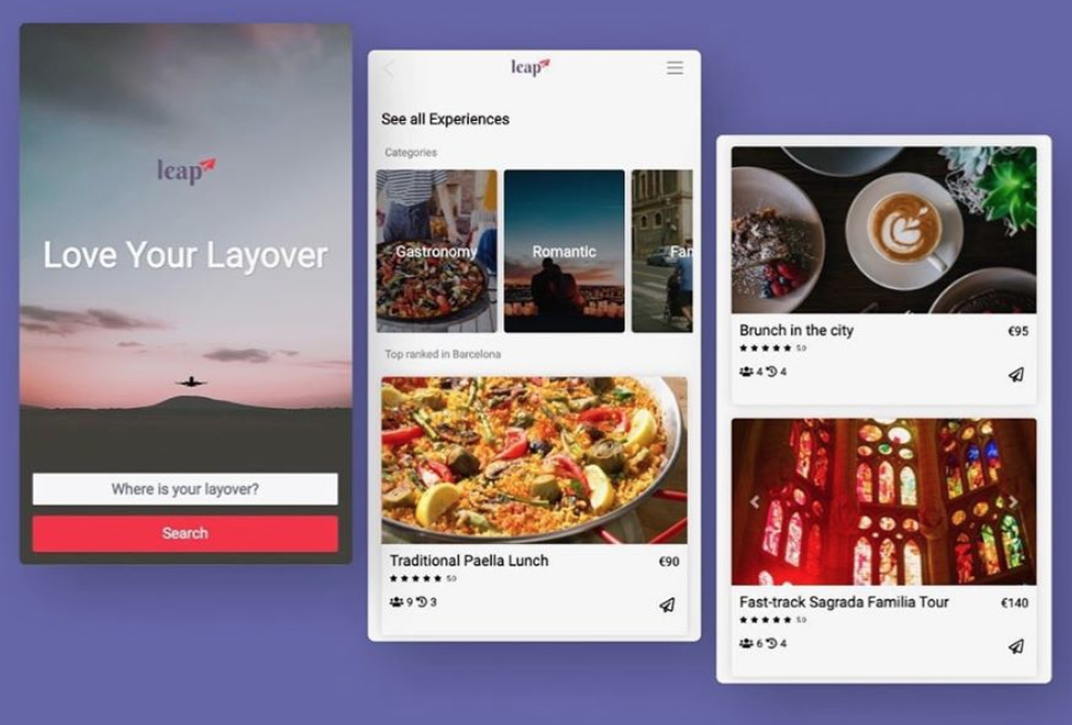 Leap Layover Mobile App Preview