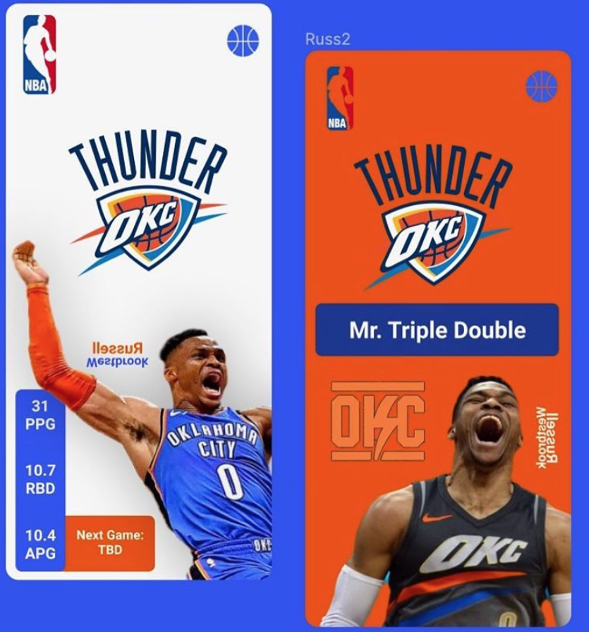 Russell Westbrook Mobile Website Mockup