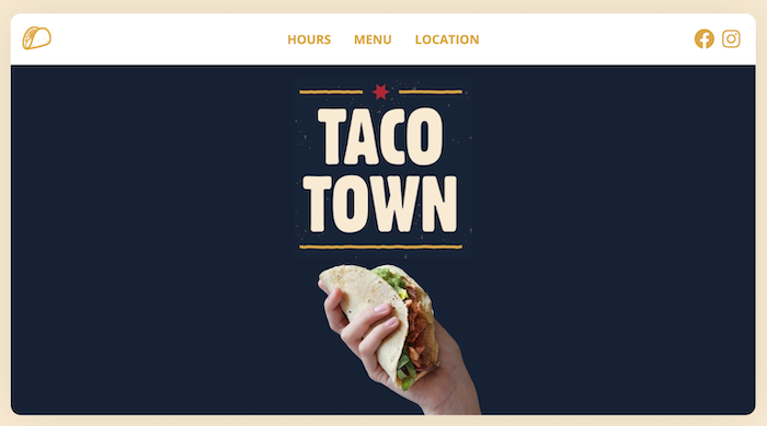 Taco Town Tulsa Desktop Website Preview